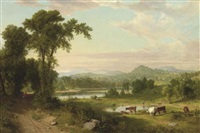 pastoral landscape by asher brown durand