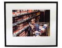 andy warhol in gristede's supermarket near 47th street factory by bob adelman
