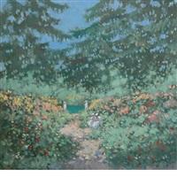 garden scene by frederick mcduff