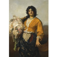 the remnants gatherer by sir samuel luke fildes