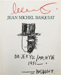 dr jekyll / mr hyde by jean-michel basquiat