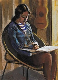 girl reading by john coyle