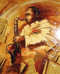 saxophoniste by jean-pierre frey