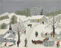 the old snow roller by grandma moses