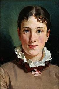 portrait of margrethe bokkenheuser by erik ludwig henningsen