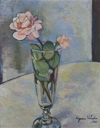 fleurs dans un vase by suzanne valadon
