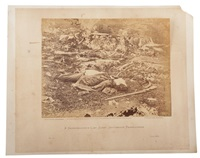 a sharpshooter's last sleep, gettysburg, pennsylvania by alexander gardner