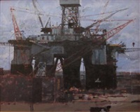oil rig, cromarty, fife by gordon ward