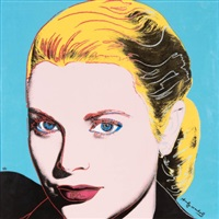grace kelly (set of four ceramic tiles) by andy warhol