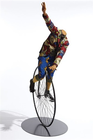 man on unicycle by yinka shonibare mbe