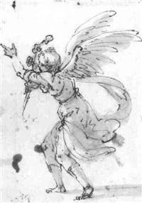 the angel of the annunciation by bartolomeo (il spagnoleto) gagliardo
