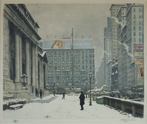 new york public library by t frantisek simon