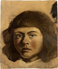 head of a boy by albert van der eeckhout