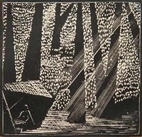 the forest (from tristan & isolde- act ii scene iii) by wharton h. esherick