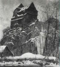 burg idstein im winter by ernst töpfer
