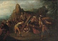the road to golgotha by frans francken iii