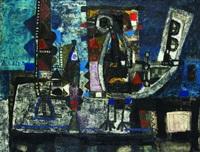 composition à l'oiseau noir by augustin ubeda