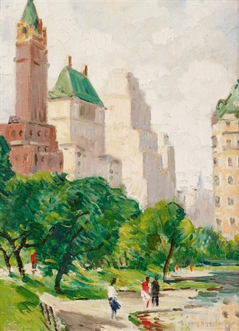 summer in central park by guy carleton wiggins