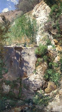 sunny canyon in palestine by eugen felix prosper bracht
