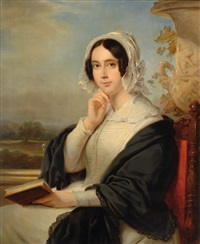 portrait of a lady by jan adam janszoon kruseman