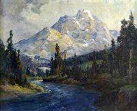 mt. temple, canadian rockies by george a. newman