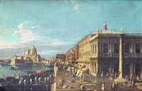 the piazzetta, venice, looking towards santa maria della salute by francesco tironi