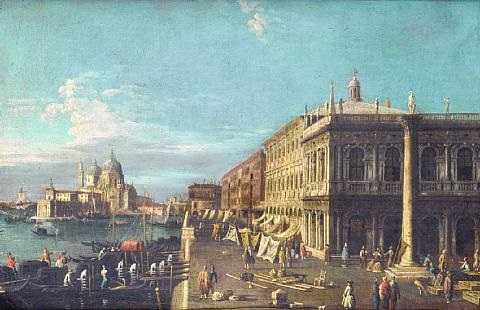the piazzetta venice looking towards santa maria della salute by francesco tironi