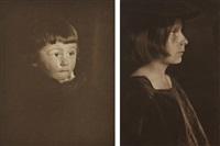 portrait of a boy; flora (2 works) by gertrude kasebier