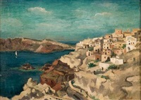 view of ia, santorini by aristotelis vasilikiotis
