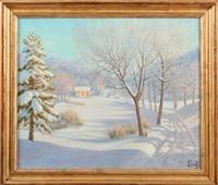 paysage de neige by piotr livoff ivanovitch