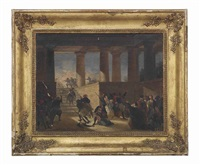 soldiers sacking a greek temple by giovanni marghinotti