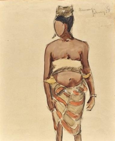 femme de mananze by maurice le scouezec