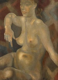 femme nue assise by jean simian