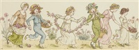children dancing by kate greenaway
