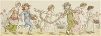 children dancing by kate greenaway