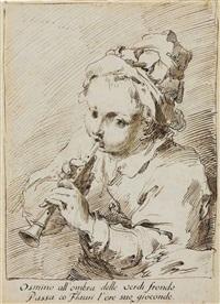 the little flute player by pietro antonio novelli