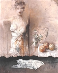 bodegón con figura by jose antonio alcacer