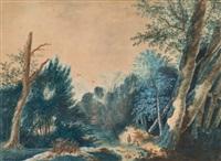 paysage au pécheur by antoine pierre mongin