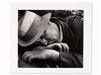 sleeping man, signed by nathan lerner