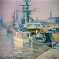 le port de cherbourg by valentine petchatine