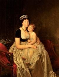 femme assise avec son fils by marguerite gérard