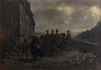 patrouille de nuit (février 1848 paris) by adolphe pierre leleux