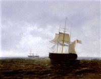 ships at sea by ioannis (jean h.) altamura