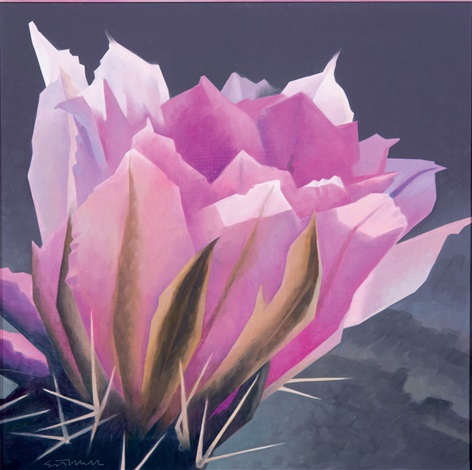 Pink cactus flower by ed mell on artnet pink cactus flower by ed mell mightylinksfo