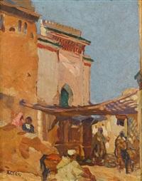 mosque souk bab el ghissa fés, (maroc) by marcelle ackein