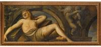 allégorie féminine dans un trompe-l'œil architectural by paolo farinati