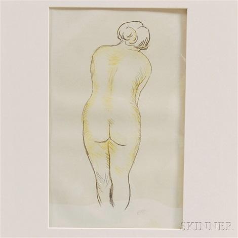 femme nue vue de dos by aristide maillol