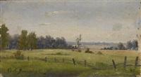 summer landscape by sergei ivanovich vasil'kovsky
