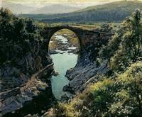 puente románico de sadernas by elías garralda
