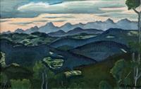 view from dibalka in beskydy by vlatislav hofmann